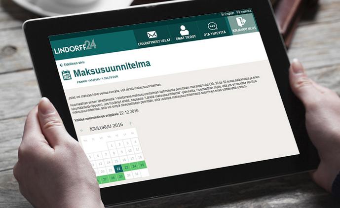 Lindorff24.fi -verkkopalvelusta saa nopeasti käsityksen Lindorffista tulleista perintälaskuista